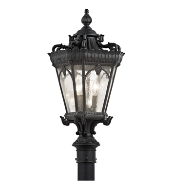 Kichler 9558BKT Tournai Collection Outdoor Post Mount 3 Light in Textured Black