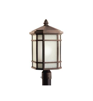 Kichler 9902PR Cameron 1 Light Incandescent Outdoor Post Mount Lantern in Prairie Rock