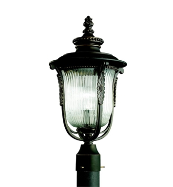 Kichler 49004RZ Outdoor Post Mount 1 Light in Rubbed Bronze