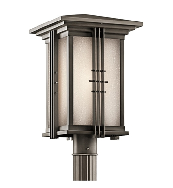 Kichler 49163OZ Portman Square Collection Outdoor Post Mount 1 Light in Olde Bronze