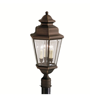 Kichler Savannah Estates Collection Outdoor Post Mount 3 Light in Olde Bronze