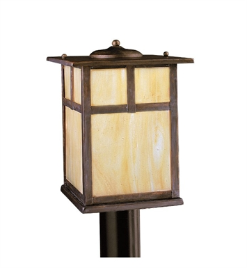 Kichler 9953CV Alameda Collection Outdoor Post Mount 1 Light