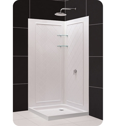 DreamLine Qwall4-DL-618 Qwall-4 Shower Base and Backwall Kit