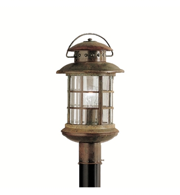 Kichler 9962RST Rustic Collection Outdoor Post Mount 1 Light