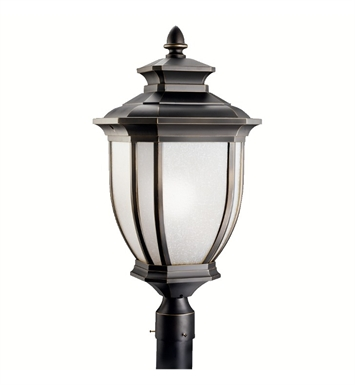 Kichler 9940RZ Salisbury Collection Outdoor Post Mount 1 Light in Rubbed Bronze