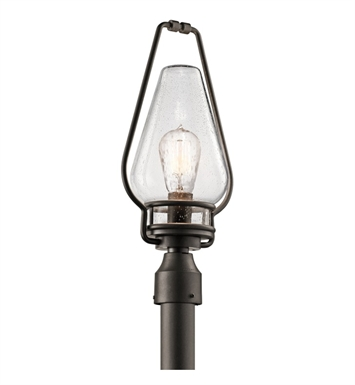 Kichler 49008AVI Outdoor Post Mount 1 Light in Anvil Iron