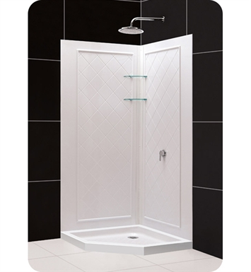 DreamLine Qwall4-Neo-DL-618 Qwall-4 Shower Base and Backwall Kit