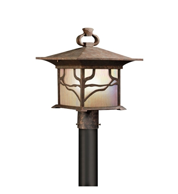 Kichler Outdoor Post Mount 1 Light in Distressed Copper