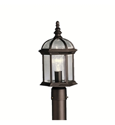 Kichler Barrie Collection Outdoor Post Mount 1 Light in Black