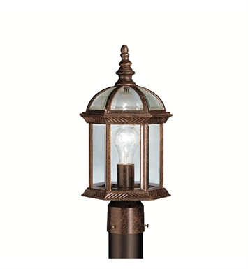 Kichler 9935TZ Barrie Collection Outdoor Post Mount 1 Light in Tannery Bronze