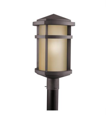 Kichler 9967AZ Lantana 1 Light  Incandescent Outdoor Post Mount Lantern in Architectural Bronze