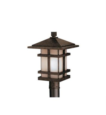Kichler 9529AGZ Cross Creek 1 Light Incandescent Outdoor Post Mount Lantern in Aged Bronze