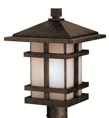 Kichler 9529AGZ Outdoor Post Mount 1 Light in Aged Bronze
