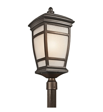 Kichler 49275RZ Outdoor Post Mount 1 Light in Rubbed Bronze