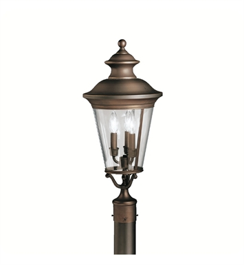 Kichler 9547OZ Eau Claire Collection Outdoor Post Mount 3 Light in Olde Bronze