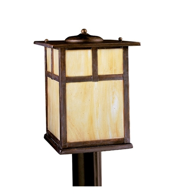 Kichler 10959CV Alameda Collection Outdoor Post Mount 1 Light Fluorescent