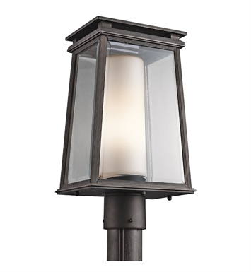Kichler 49404RZ Outdoor Post Mount 1 Light in Rubbed Bronze