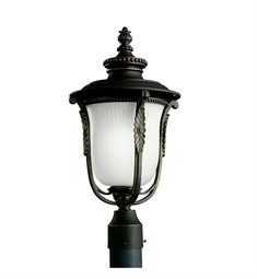 Kichler Outdoor Post Mount 1 Light Fluorescent in Rubbed Bronze