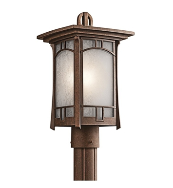 Kichler 49453AGZ Soria Collection Outdoor Post Mount 1 Light in Aged Bronze