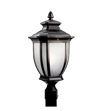 Kichler Salisbury Collection Outdoor Post Mount 1 Light Fluorescent in Rubbed Bronze