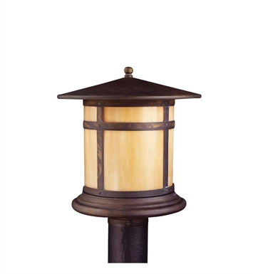 Kichler 9945CV Tularosa Collection Outdoor Post Mount 1 Light