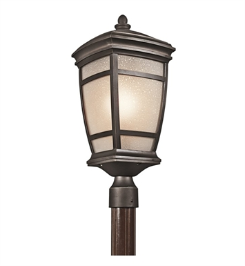 Kichler 49274RZ Outdoor Post Mount 1 Light in Rubbed Bronze
