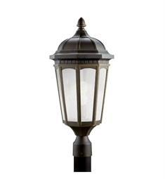Kichler Courtyard Collection Outdoor Post Mount 1 Light Fluorescent in Rubbed Bronze