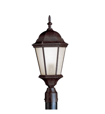 Kichler Outdoor Post Mount 1 Light Fluorescent in Tannery Bronze