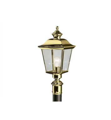 Kichler 9913PB Bay Shore 1 Light Incandescent Outdoor Post Mount Lantern in Polished Brass