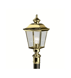 Kichler Bay Shore Collection Outdoor Post Mount 1 Light in Polished Brass