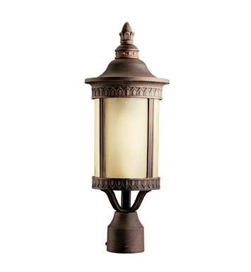 Kichler 10906PR Randolph Collection Outdoor Post Mount 1 Light Fluorescent in Prairie Rock