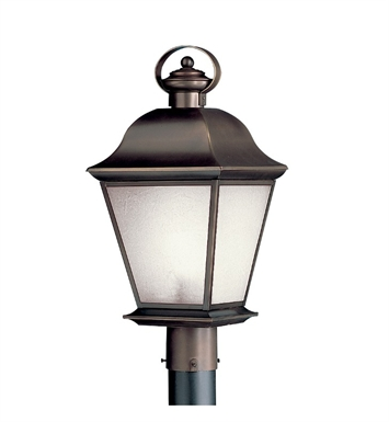Kichler 11009RZ Salisbury Collection Outdoor Post Mount 1 Light Fluorescent in Rubbed Bronze