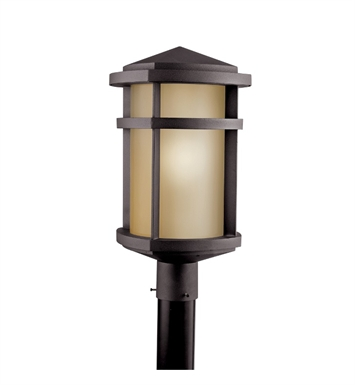 Kichler 11070AZ Outdoor Post Mount 1 Light Fluorescent in Architectural Bronze