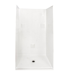 "Ella 4836BF4P.875C-STD Standard Barrier Free Roll In Shower Kit - 48"" x 37"""