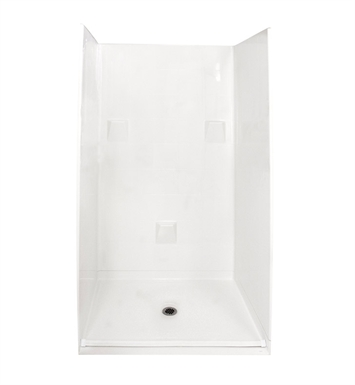 "Ella 4836BF4P.875C-STD-BN Standard Barrier Free Roll In Shower Kit - 48"" x 37"" With Finish: Bone"