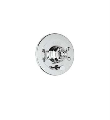 Rohl AC200OP-PN Cisal Arcana Trim For Pressure Balance Concealed Bath And Shower Mixer With Diverter With Finish: Polished Nickel And Handles: Arcana Ornate Porcelain Lever Handles