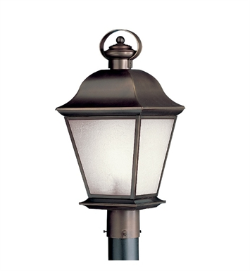 Kichler 10911OZ Mount Vernon Collection Outdoor Post Mount 1 Light Fluorescent in Olde Bronze