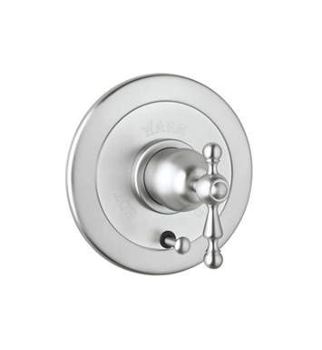 Rohl AC700X-PN Cisal Arcana Volume Control Pressure Balance Trim With Diverter With Finish: Polished Nickel And Handles: Arcana Cross Metal Lever Handles