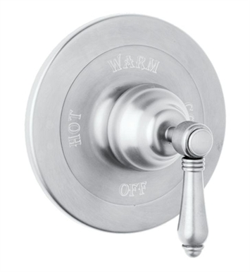 Rohl A1400LP-OI Viaggio Pressure Balance Trim Without Diverter With Finish: Old Iron And Handles: Porcelain Lever Handles