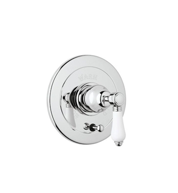 Rohl A7400LP-TCB Viaggio Pressure Balance Trim With Diverter With Finish: Tuscan Brass <strong>(SPECIAL ORDER, NON-RETURNABLE)</strong> And Handles: Porcelain Lever Handles