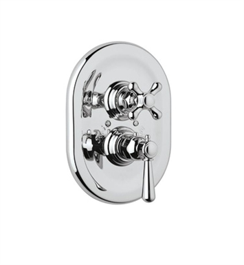 Rohl A2909XM-TCB Verona Trim Only For Thermostatic/Volume Concealed Valve With Finish: Tuscan Brass <strong>(SPECIAL ORDER, NON-RETURNABLE)</strong> And Handles: Verona Metal Cross Handles