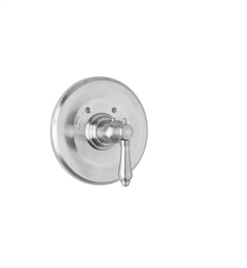 Rohl A4914LP-STN Viaggio Handle Trim Only For Thermostatic/Non-Volume Controlled Valve With Finish: Satin Nickel And Handles: Porcelain Lever Handles