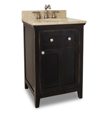 Hardware Resources VAN093-24-T Traditional Bathroom Vanity by Bath Elements