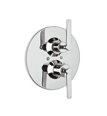 Rohl A4209LM-STN Lombardia Trim Only For Thermostatic/Volume Concealed Valve With Finish: Satin Nickel And Handles: Lombardia Metal Lever Handles