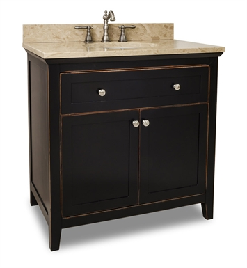 Hardware Resources VAN093-36-T Traditional Bathroom Vanity by Bath Elements
