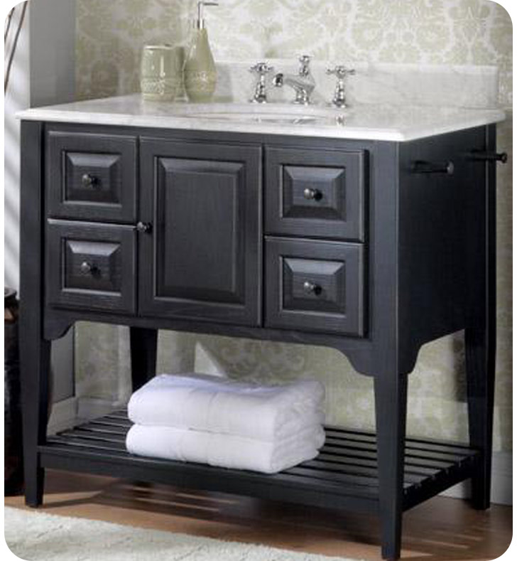 Designs 168 V36BK American Shaker 36 Traditional Bathroom Vanity