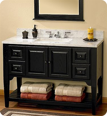 Fairmont designs 168 v48bk american shaker 48 traditional - American classic bathroom vanity ...