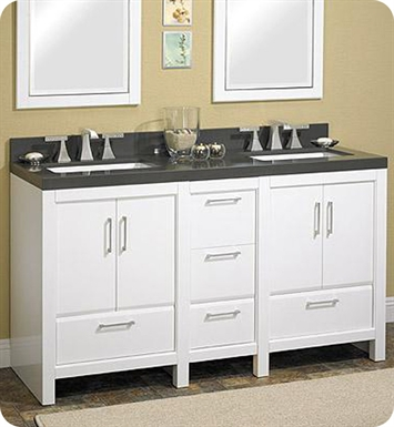 "Fairmont Designs 124-V24_DB1221_V24 Belleair Beach 60"" Modular Modern Bathroom Vanity"