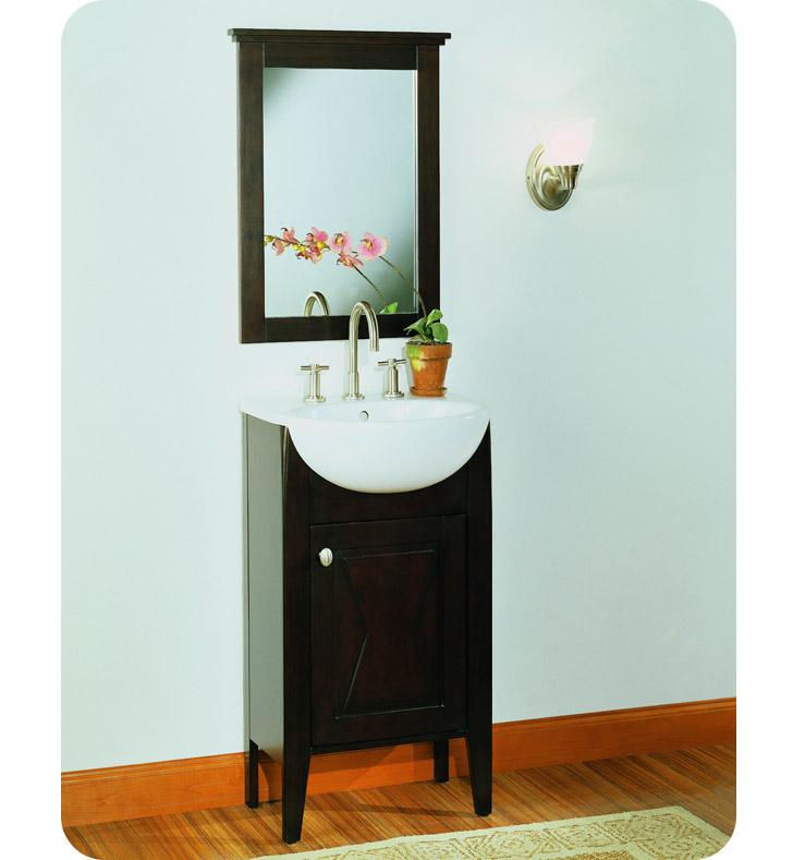 Fairmont Designs 104 V20 Bowtie 20 Modern Bathroom Vanity Sink Mirror Combo In Espresso