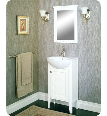 "Fairmont Designs 102-V20 Bowtie 20"" Modern Bathroom Vanity, Sink, Mirror Combo in Polar White"